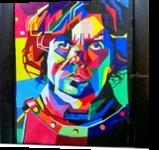 Tyrion Lannister Pop Art, Drawings / Sketch,Mosaic, Pop Art, Cartoon,Decorative,Fantasy, Acrylic, By Sukrriti Aggarwal
