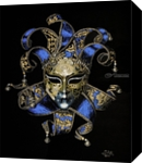 Venetian mask, Paintings, Expressionism,Modernism,Photorealism,Realism, 3-D,Fantasy,Multicultural / Ethnic, Acrylic, By Ivan Pili