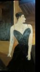 Woman in a Black Dress, Paintings, Fine Art, Portrait, Oil, By MD Meiser
