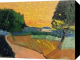 Yellow Sky, Paintings, Impressionism, Landscape, Oil, By MD Meiser