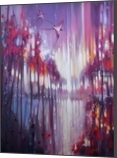 A Beautiful Truth - an abstract Winter landscape with swallows, Paintings, Fine Art, Spiritual, Oil, By Gill Bustamante