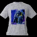 A Blue Gorilla edited, Digital Art / Computer Art, Abstract, Animals, Digital, By Joshua Bindseil