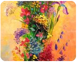 A bouquet of beautiful wild flowers, Paintings, Impressionism, Botanical,Wildlife, Canvas, By Olha   Vyacheslavovna Darchuk