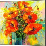 A bouquet of poppies, Paintings, Impressionism, Botanical,Floral,Nature, Canvas,Oil,Painting, By Olha   Vyacheslavovna Darchuk