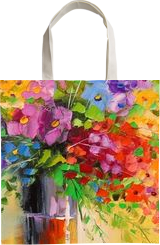 A bouquet of wild flowers, Paintings, Impressionism, Botanical,Floral,Nature, Canvas,Oil,Painting, By Olha   Vyacheslavovna Darchuk
