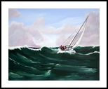 A CHOPPY DAY, Paintings, Impressionism, Seascape, Acrylic, By Graham Evans