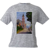 A Church in Berkeley, Paintings, Impressionism, Cityscape, Oil,Wood, By Mason Mansung Kang