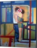 A difficult mother, Paintings, Pop Art, Figurative, Canvas,Oil,Wood, By Piotr Ryszard Kachny