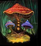 A Mushroom World, Paintings, Fine Art, Conceptual, Acrylic, By adam santana