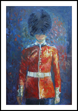A Palace Guard, Paintings, Expressionism, Window on the World, Acrylic, By Jane Adrianson