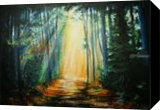 a ray of sunshine, Paintings, Fine Art, Landscape,Nature, Acrylic,Canvas, By Marta Kuźniar