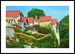 A Sunny Day- Nainital, Paintings, Expressionism,Photorealism, Landscape, Oil, By Ajay Harit