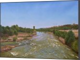 A View from the Old Bridge in Spring, Paintings, Photorealism,Realism, Landscape,Nature, Canvas,Oil, By Dejan Trajkovic