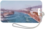 A View From the Old Bridge in Winter, Paintings, Fine Art,Photorealism,Realism, Landscape,Nature, Canvas,Oil, By Dejan Trajkovic