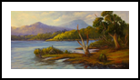 A view of Lake St Clair, Tasmania Oil on canvas, Paintings, Fine Art,Impressionism,Realism, Landscape, Oil, By Christopher Vidal