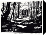 A Walk In The Woods, Printmaking, Expressionism, Landscape, Wood, By Thomas J Norulak