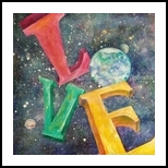 A World of Love, Paintings, Impressionism, Celestial / Space, Acrylic, By Marion Grant Freeman