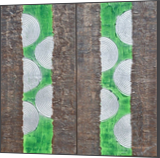A132 green abstract diptych Abstract Painting vertical wall art Acrylic Original Contemporary Art, Decorative Arts,Multipanel Art,Paintings,Sculpture, Abstract,Expressionism,Minimalism,Modernism, Decorative, Acrylic,Canvas,Mixed,Painting, By Ksavera Art