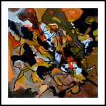 abstract 446190, Paintings, Abstract, Decorative, Canvas, By Pol Henry Ledent
