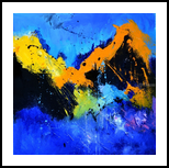 abstract 447030, Paintings, Abstract, Decorative, Canvas, By Pol Henry Ledent