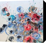 Abstract flowers, Paintings, Abstract, Botanical,Fantasy,Floral,Nature, Acrylic,Canvas, By Irini Karpikioti