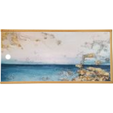 Abstract sea At the edge of the water, Paintings, Abstract,Expressionism,Impressionism, Nature,Seascape, Canvas,Oil, By Larissa Uvarova