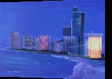 Abu Dhabi while sunset, Paintings, Fine Art, Architecture, Oil, By Claudia Luethi alias Abdelghafar