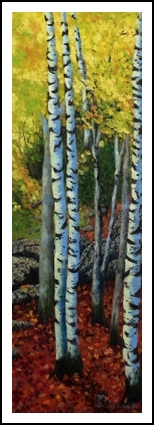 Acadian Aspens, Paintings, Realism, Landscape, Oil, By Beverly Hart Theriault