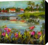 Across the Pond, Paintings, Fine Art,Impressionism, Landscape, Oil, By Chris Brandley