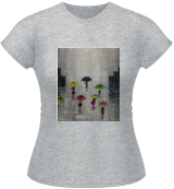 Acrylic painting, Gift idea, Wall Art, original art Rainy Day (2017), Paintings, Expressionism,Impressionism, Cityscape,Daily Life,People, Acrylic,Canvas, By Nataliia Plakhotnyk