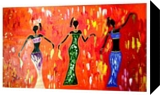 African Dancers, Paintings,Paper Art, Fine Art, Fantasy,Figurative, Acrylic, By Smita Biswas
