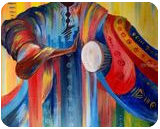 African drummer, Paintings, Abstract, Conceptual, Acrylic,Canvas, By Ernest larbi Budu