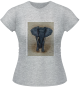 African Elephant Payne's Grey, Paintings, Fine Art,Surrealism, Animals,Portrait, Painting,Watercolor, By Kelly A Mills