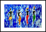 African Fantasy, Paintings,Paper Art, Abstract,Fine Art, Fantasy,Figurative, Acrylic, By Smita Biswas