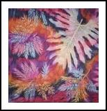 African flora, Fiber Art, Chance, Floral, Fiber, By Gill Roberts