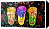 African Masks, Paintings,Paper Art, Abstract,Fine Art, Fantasy, Acrylic, By Smita Biswas