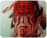 Algonquin Warrior, Paintings, Impressionism, Daily Life,Figurative,Historical,Multicultural / Ethnic,People,Portrait, Oil, By Dan Twitchell