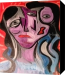 All a matter of perspective, Paintings, Abstract,Cubism,Fine Art,Primitive, Portrait,The Primative, Oil, By Silvia Palazon Lopez
