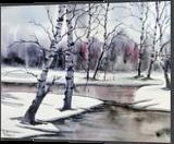 Almost Frozen, Paintings, Fine Art, Landscape, Painting, By james Allen lagasse