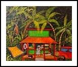 Aloha Fruit Stand, Folk Art, Primitive, Tropical, Acrylic, By Lydia Matias