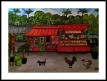 Aloha Juice Bar, Paintings, Primitive, Tropical, Acrylic, By Lydia Matias