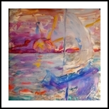Alone but Never Alone, Paintings, Impressionism, Seascape, Acrylic, By Marion Grant Freeman