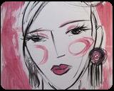 Amanda, Paintings, Fauvism,Minimalism,Modernism,Primitive, Portrait, Acrylic,Painting, By Lianne Kocks