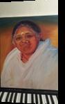 Amma, Paintings, Realism, Portrait, Oil, By Meera Bhaskaran