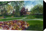 An Afternoon in the Park, Paintings, Impressionism,Realism, Botanical,Floral,Landscape, Canvas,Painting, By Matthew David Evans