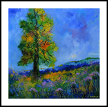 An oak in summer, Paintings, Impressionism, Botanical, Canvas, By Pol Henry Ledent
