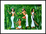Ancient Egyptian Dancers, Paintings, Fine Art, Figurative, Acrylic, By Smita Biswas