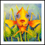 Angel fish, Paintings, Impressionism, Animals, Nature, Canvas, Oil, Painting, By Olha   Vyacheslavovna Darchuk