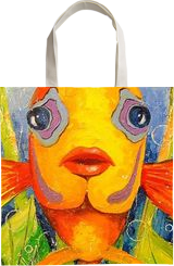 Angel fish, Paintings, Impressionism, Animals,Nature, Canvas,Oil,Painting, By Olha   Vyacheslavovna Darchuk