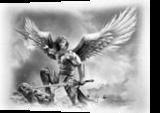 ANGEL WARRIOR, Drawings / Sketch,Illustration, Fine Art,Photorealism,Realism, Fantasy,People, Pencil, By Miro Gradinscak